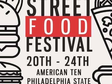 Monthly Street Food Festival Flyer