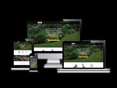 Keane Landscaping - A Business website