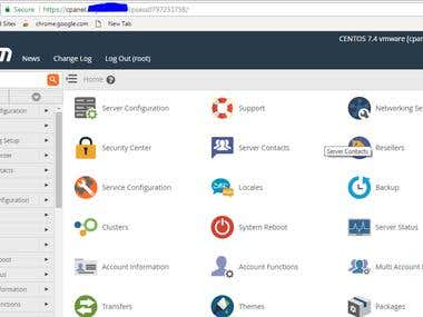 WHM/Cpanel installation and configuration