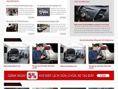 Thiết giao diện website ô tô