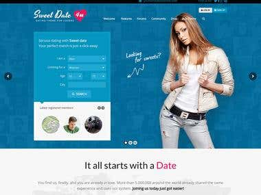 DATING WEBSITE (LARAVEL + REACT JS)