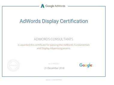 Display Ads Certification from Google
