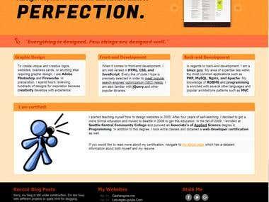 Website Design for ilyasSerter.Com