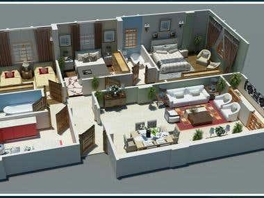 Apartments 3D Modelling