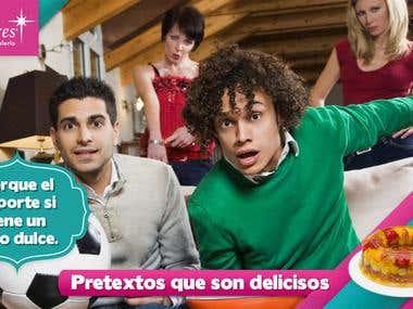 Campaña para pastelería