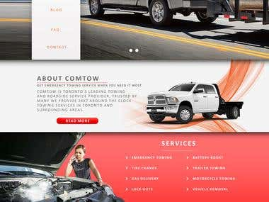 COMTOW (Towing and Roadside Service) Website Design