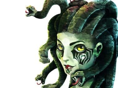 Children's Book Character Design - Medusa