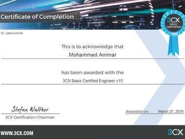 3CX Basic Certified Engineer V15