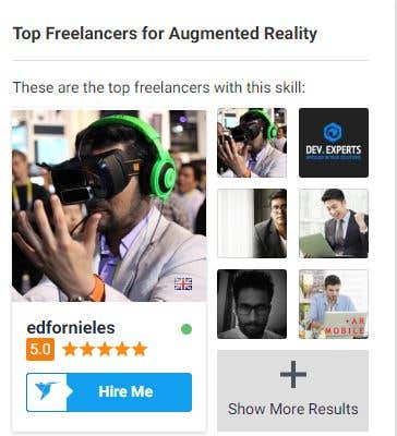 Top Freelancer for Augmented Reality