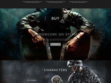 Gaming Web Ui Design