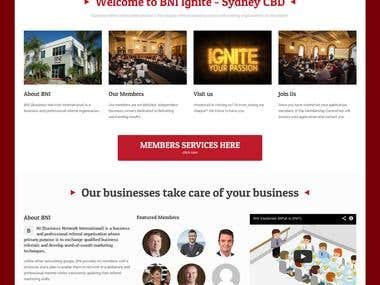 BNI Ignite- Membership website
