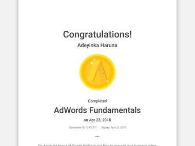 Google Adwords Certificate