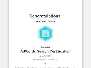 Google Adwords Search Engine Marketing Certificate
