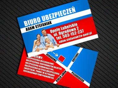 BUSINESS CARD BIURO UBEZPIECZEN