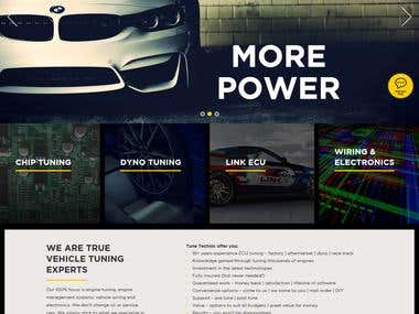 A web portal for Vehicle tuning firm in New Zealand.