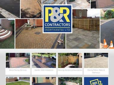 P&R CONTRACTORS website with Wordpress