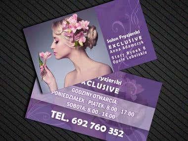 BUSINESS CARD Salon Fryzjerski Exclusive