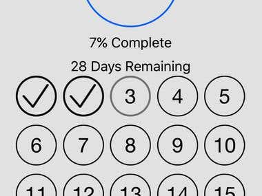 iPhone App - 30-day-fitness