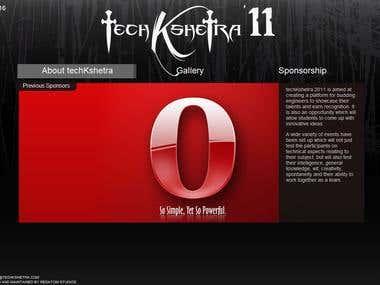 Techkshetra'11 Sponsorship Website