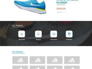 Website's Landing Page