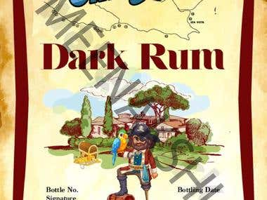 Rum Label Design