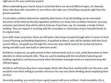 Web Content for Company of Architects