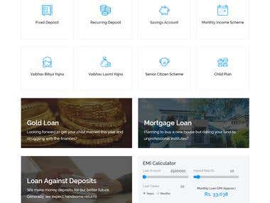Vaibhav Nidhi Bank Website Design and Develop