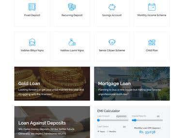 Vaibhav Nidhi Bank Website Design and Develop