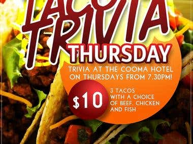 Cooma Hotel Trivia Night Posters