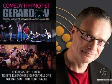 Cooma Hotel Gerard V Comedy Show Posters and Facebook Cover