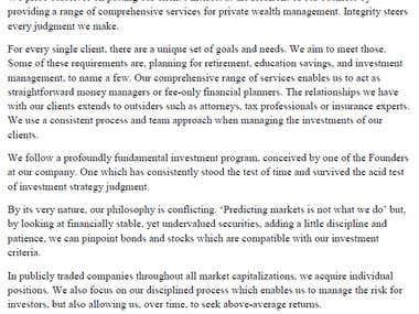 Wealth Management Company Profile