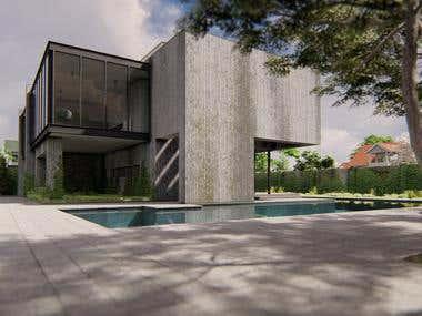 Modern Brutalist House