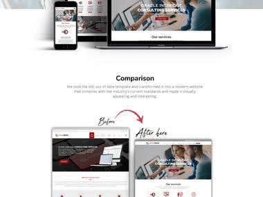 Website Landing page Redesign