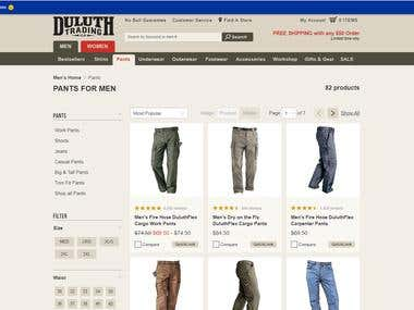 Men's and Women's clothe shopping site