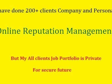 Reputation Management Jobs Portfolio