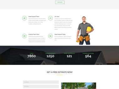 Wordpress Roofing site