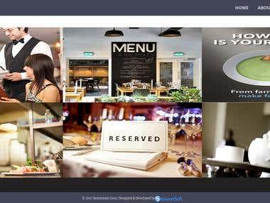 Restaurant Dynamic Website