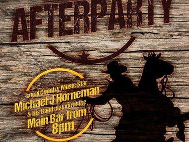 Cooma Hotel Rodeo Afterparty POS, Poster and Facebook Cover