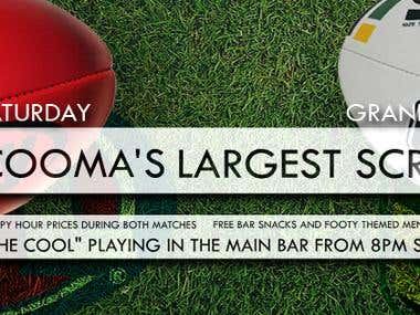 Cooma Hotel Grand Final POS, Posters & Facebook Cover