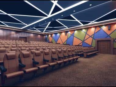 Interior Design- Auditorium & Class Room