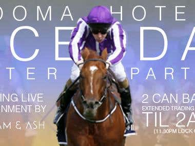 Cooma Hotel 2016 Melbourne Cup POS, Posters and Facebook