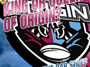 Cooma Hotel State of Origin Posters and Facebook Cover