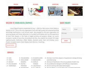 WordPress website - Design