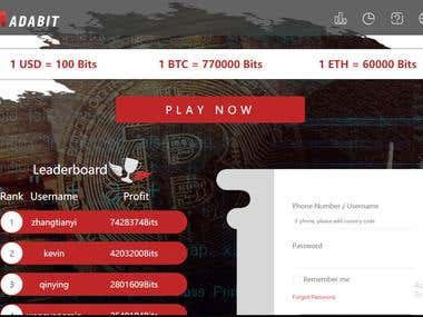 BTC/ETH GAMBLING WEBSITE (NODE JS + REACT JS)