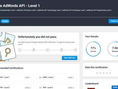 Adword API Exam Passed