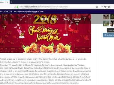 Vietnamese new year blog article translation