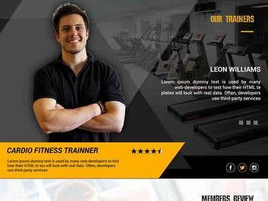 Landing Page : Gym