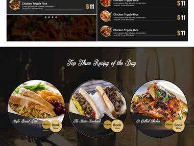 Landing Page : Restaurant