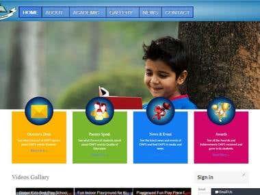 Edecation Dynamic Website