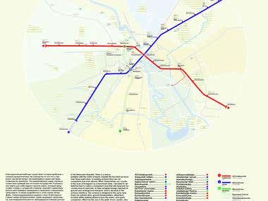 The scheme of the Minsk metro